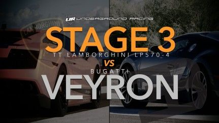 Drag Race: Lamborghini Gallardo Superleggera (Underground Racing) VS Bugatti Veyron