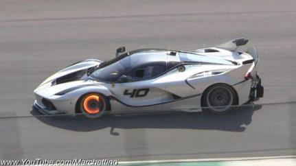 Ferrari FXXK com travões em brasa!